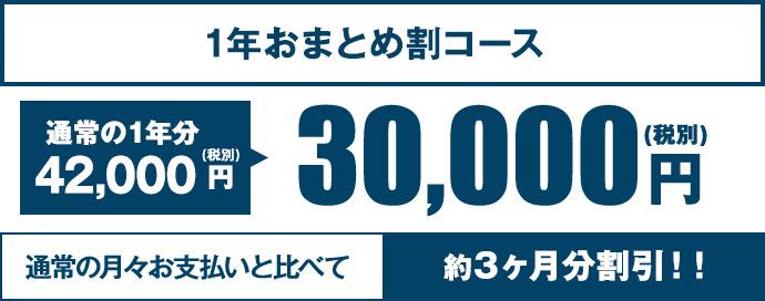 1年おまとめ割コース 30,000円